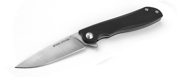 Real Steel E801 Megalodon Stainless Knife Folding Liner Lock Black G10 7420