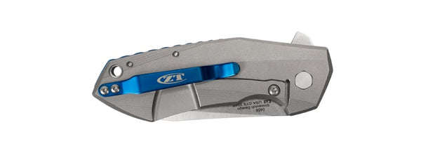 Zero Tolerance 0456 Knife KVT Flipper Titanium Handle