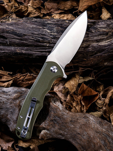 CIVIVI Knives C803 Praxis Folding Knife Stainless Steel Green G10 Handle C803A