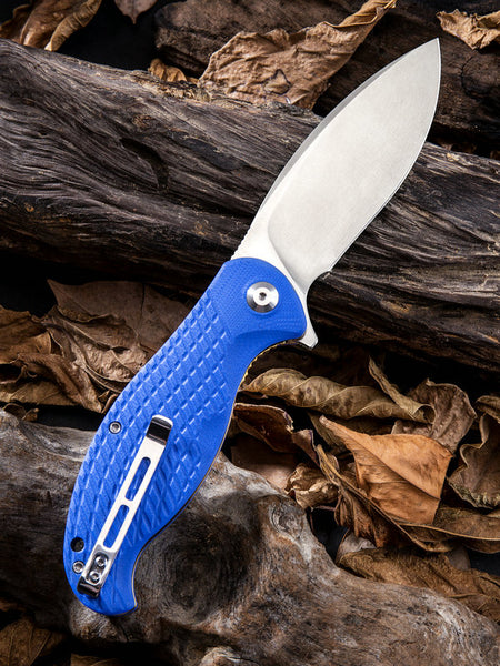 CIVIVI Knives C802 Naja Folding Knife Stainless Steel Blue G10 Handle C802B
