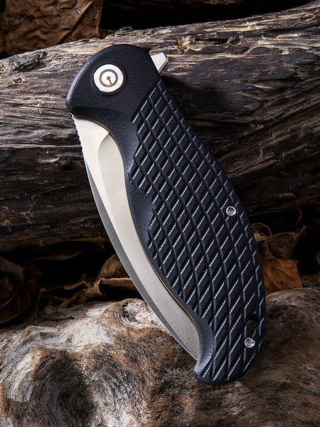 CIVIVI Knives C802 Naja Folding Knife Stainless Steel Black G10 Handle C802C