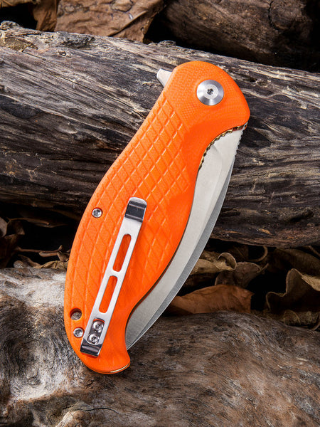 CIVIVI Knives C802 Naja Folding Knife Stainless Steel Orange G10 Handle C802A