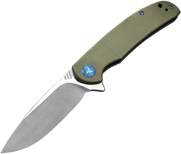 We Knife Practic 809A Green Bohler M390 Steel G10 Handle Liner Lock Knife