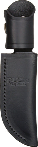 Buck Belt Sheath Black Leather 103S