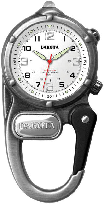 Dakota Mini Clip Microlight Watch Black White Dial