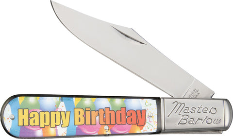 Happy Birthday Folding Stainless Steel Blade Pocket Knife