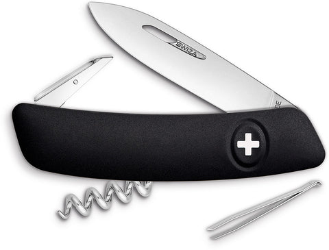 Swiza D01 Swiss Pocket Knife Black KNI.0010.1010