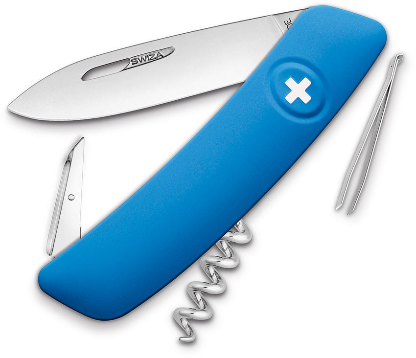 Swiza D01 Swiss Pocket Knife Blue KNI.0010.1030
