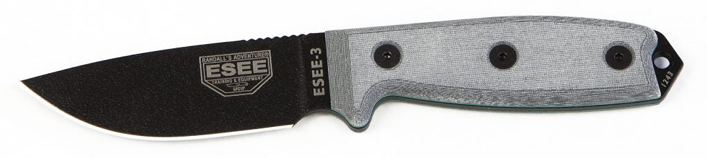 ESEE-3 Knife - Plain Edge - ESEE-3P-B
