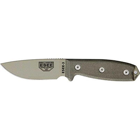 ESEE-3 Knife - Plain Edge - ESEE-3P-DT