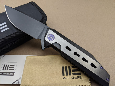 We Knife - Titanium Framelock - 602C - S35VN Black Stonewash Stainless Blade