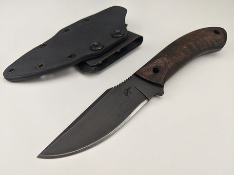 Winkler Knives - Everycarry Knife - Maple Wood Handle - Kydex Belt Sheath - USA