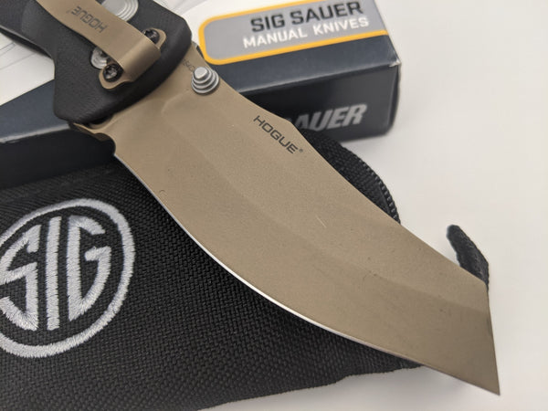 SIG SAUER by Hogue EX-04 Emperor Scorpion Manual Folder Knife Black G10 36460