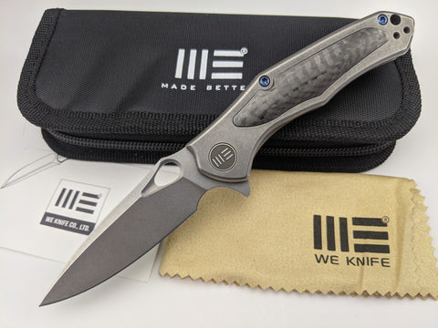 We Knife Vapor - Gray Titanium Handle - Stonewash S35VN Stainless Blade - 804F
