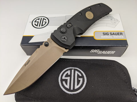 SIG SAUER by Hogue EX-01 Emperor Scorpion Manual Folder Knife Black G10 36170