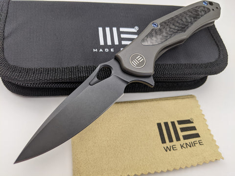 We Knife Vapor Dark Gray Titanium Handle Black CPM-S35VN Stainless Blade - 804C