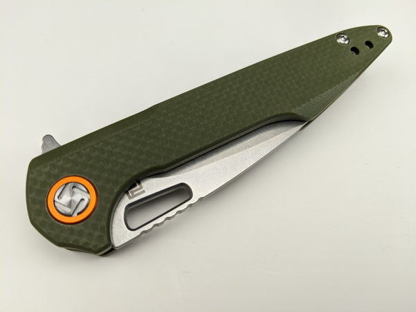 Artisan Cutlery Small Archaeo Liner Lock Green D2 Steel Knife Folder 1821PS-GNF