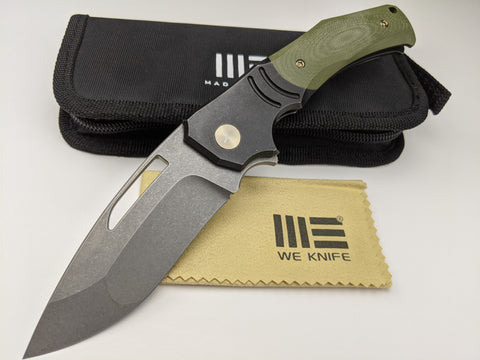 We Knife JIXX 904A Bohler M390 Blade Titanium Green G10 Handle Frame Lock Knife