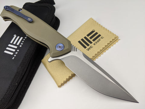 We Knife Streak 818D Bohler M390 2-Tone Blade Tan G10 Handle Liner Lock Knife