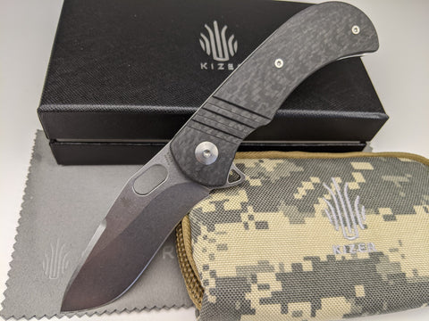 Kizer Desert Dog KI4496 Folding Knife CPM-S35VN Blade Steel Carbon Fiber Handle