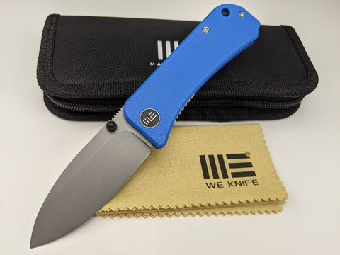 We Knife Banter 2004A Blue G10 Handle CPM S35VN Blade Steel Liner Lock Knife