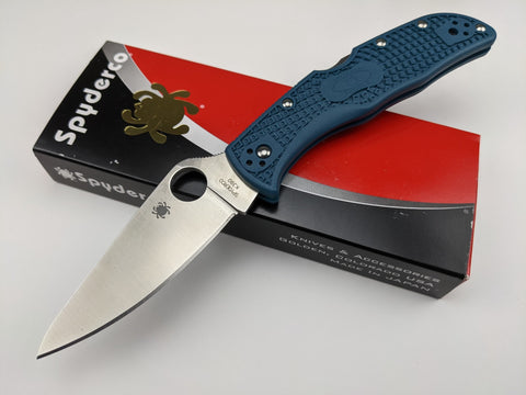 Spyderco Endela Folding Knife K390 Tool Steel Blade Blue Handle C243FPK390 Japan