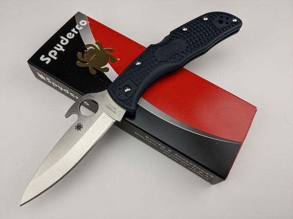Spyderco Endela Emerson Opener Knife C243PGYW VG-10 Blade Black FRN Handle Japan
