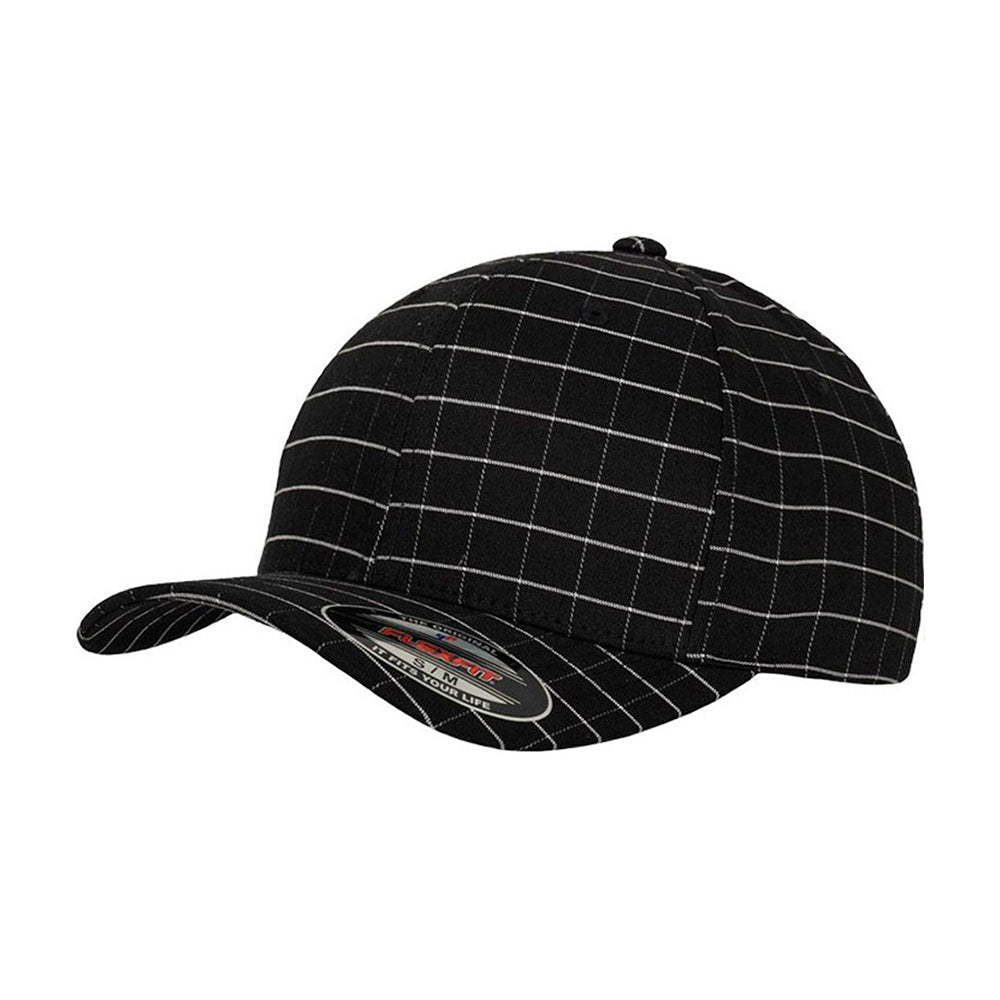 Flexfit Baseball Check Flexfit 6197 Black Sort