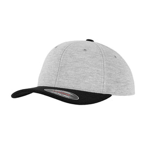Flexfit Baseball Original Jersey Flexfit 6277 Heather Grey Black Grå Sort
