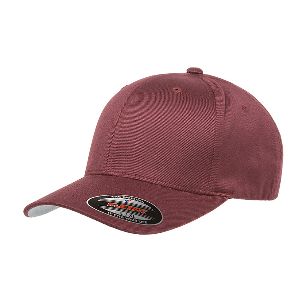 Flexfit Baseball Original Flexfit Kids 6277 Maroon Red Rød