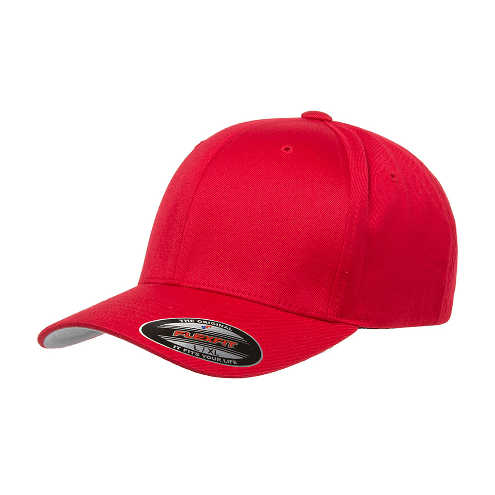 Flexfit Baseball Original 6277 Cap Kids Baseball Rød