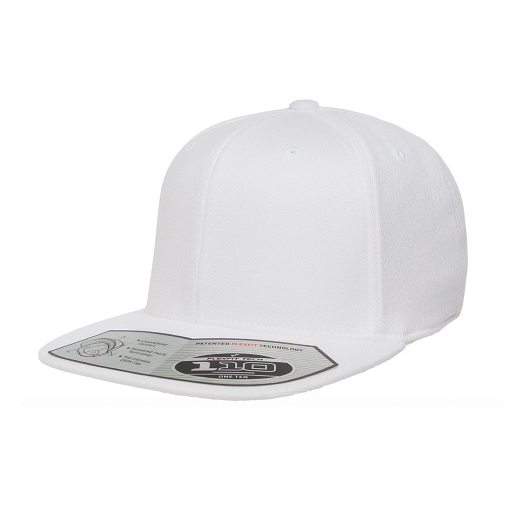 Flexfit Yupoong Premium One Ten Snapback 110F White Hvid