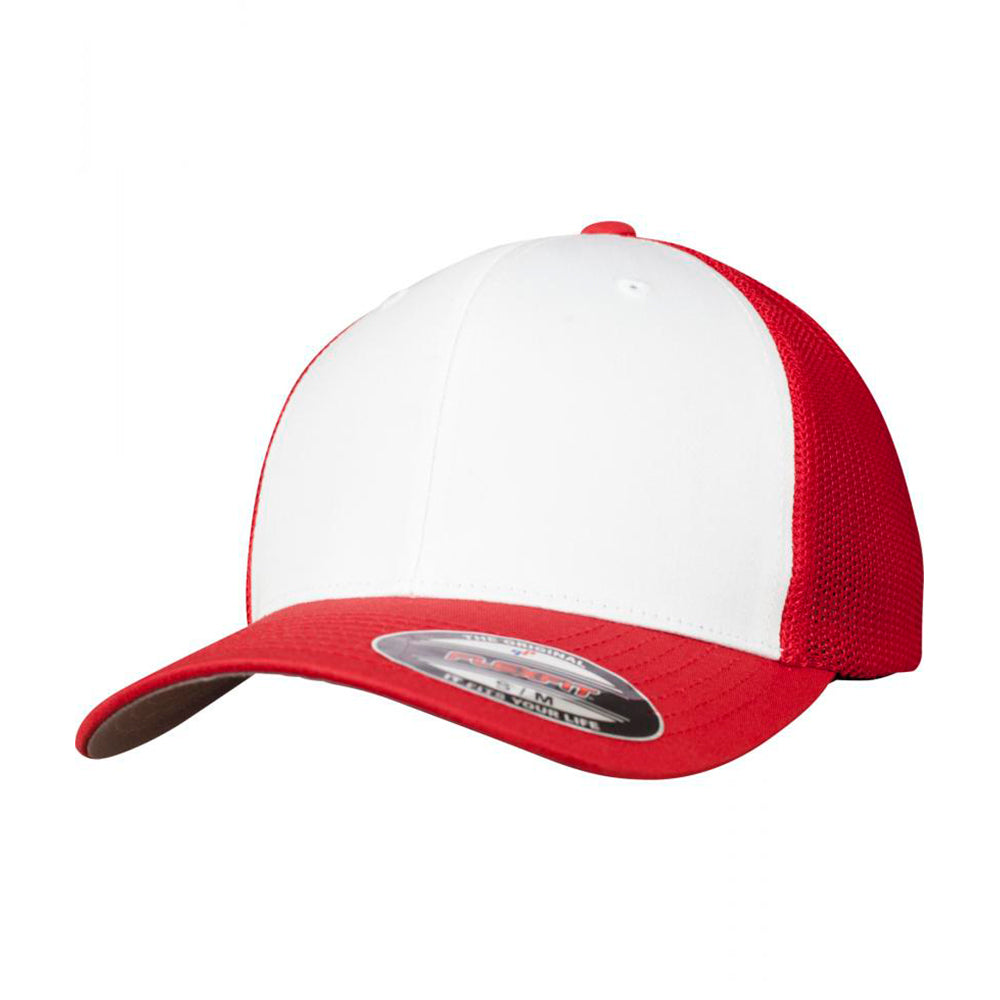 Flexfit Mesh Colored Front Flexfit 6511CF Red White Rød Hvid