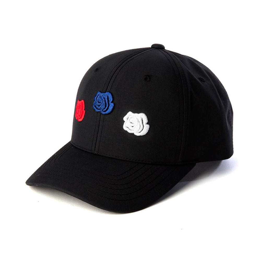 La Rosa Triple Rose Snapback Black White Red Blue Sort Hvid Rød Blå