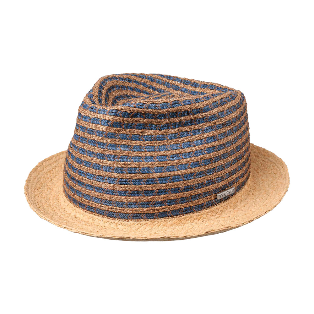 Stetson Kamano Toyo Player Straw Hat Nature Blue Blå