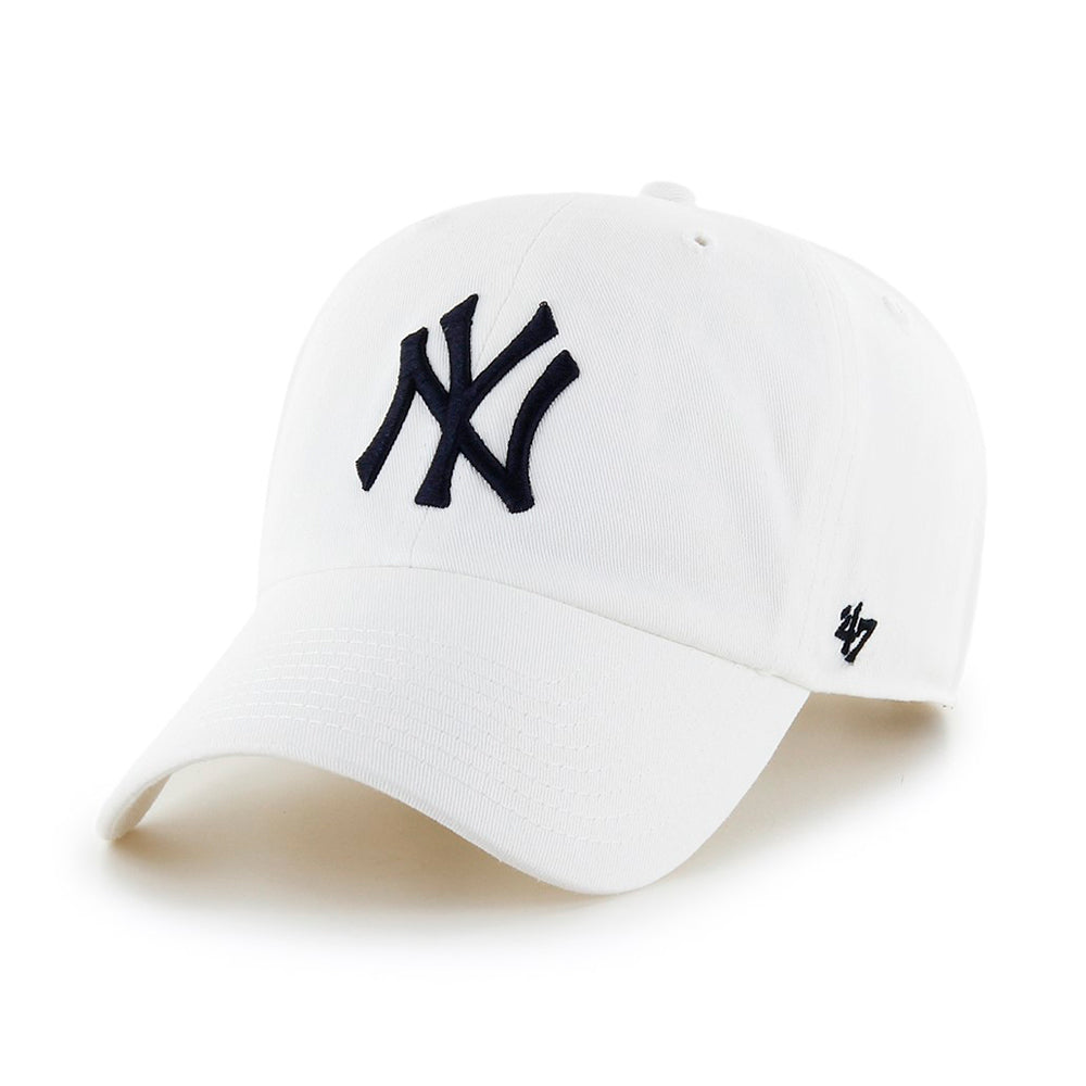 47 Brand NY Yankees Clean up Adjustable White Hvid