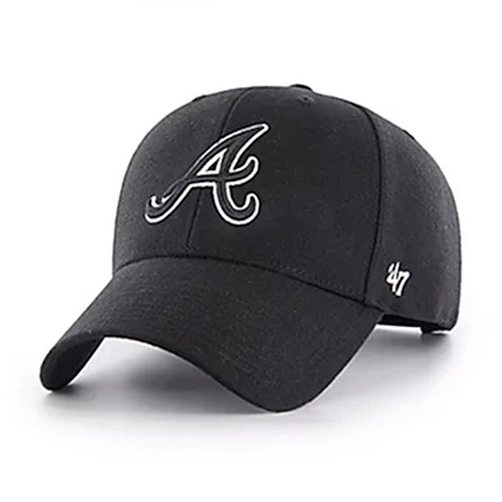 47 Brand Atlanta Braves MVP Snapback Black Sort