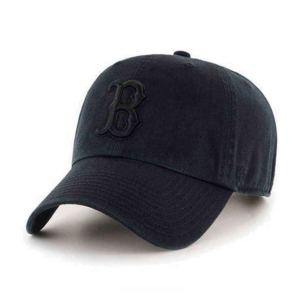 47 Brand Boston Red Sox Clean Up Adjustable Justerbar Black on Black Sort B-RGW02GWSNL-BKG