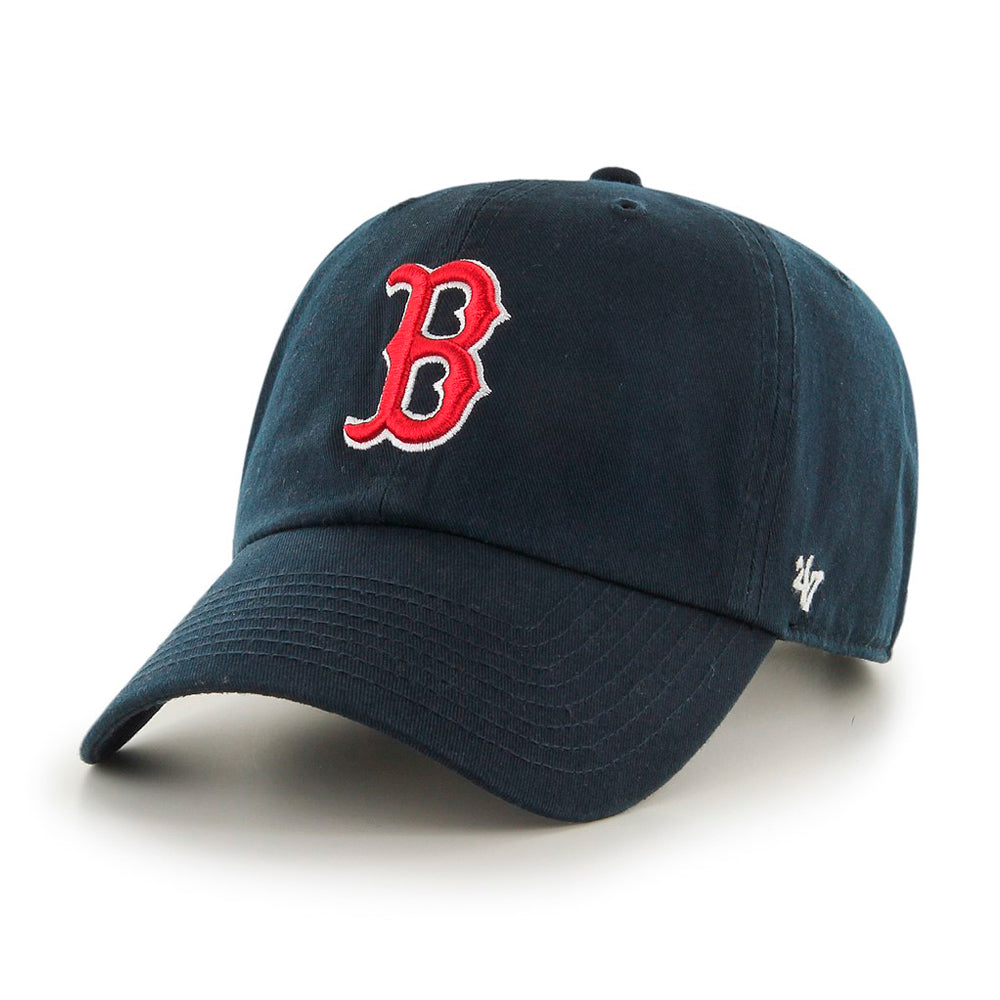 47 Brand MLB Boston Red Sox Clean Up Justerbar Adjustable Navy Blå Mørkeblå B-RGW02GWS-HM