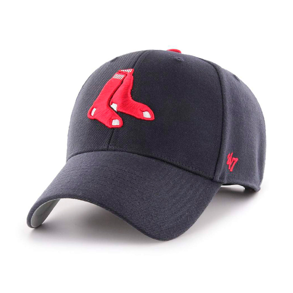47 Brand Boston Red Sox MVP Adjustable Navy Red Blå Rød B-MVP02WBV-A1