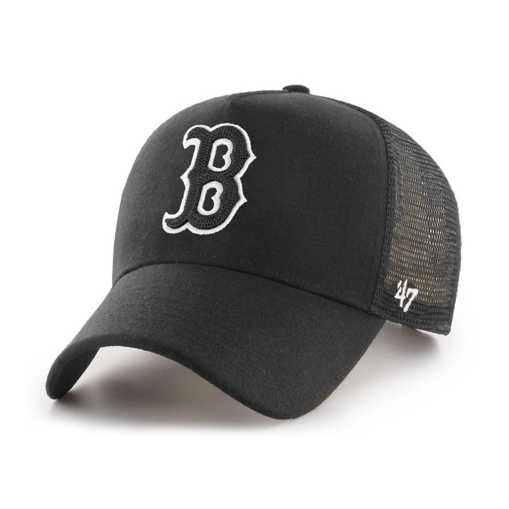 47 Brand MLB Boston Red Sox MVP DP Cold Zone Trucker Snapback Black on Black Sort