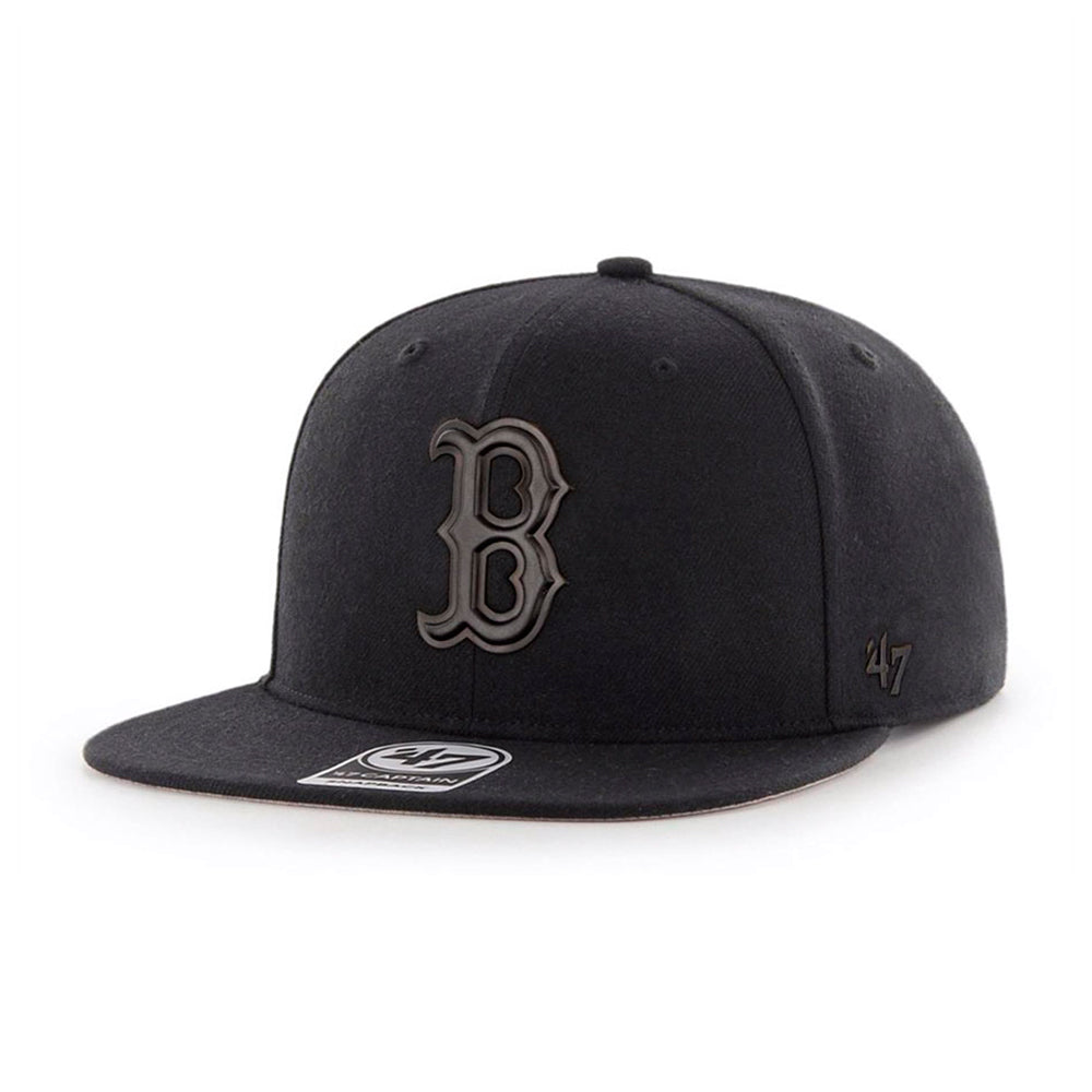 47 Brand Boston Red Sox Matte Captain Snapback Black on Black Sort Sort B-MATTE02WBP-BK