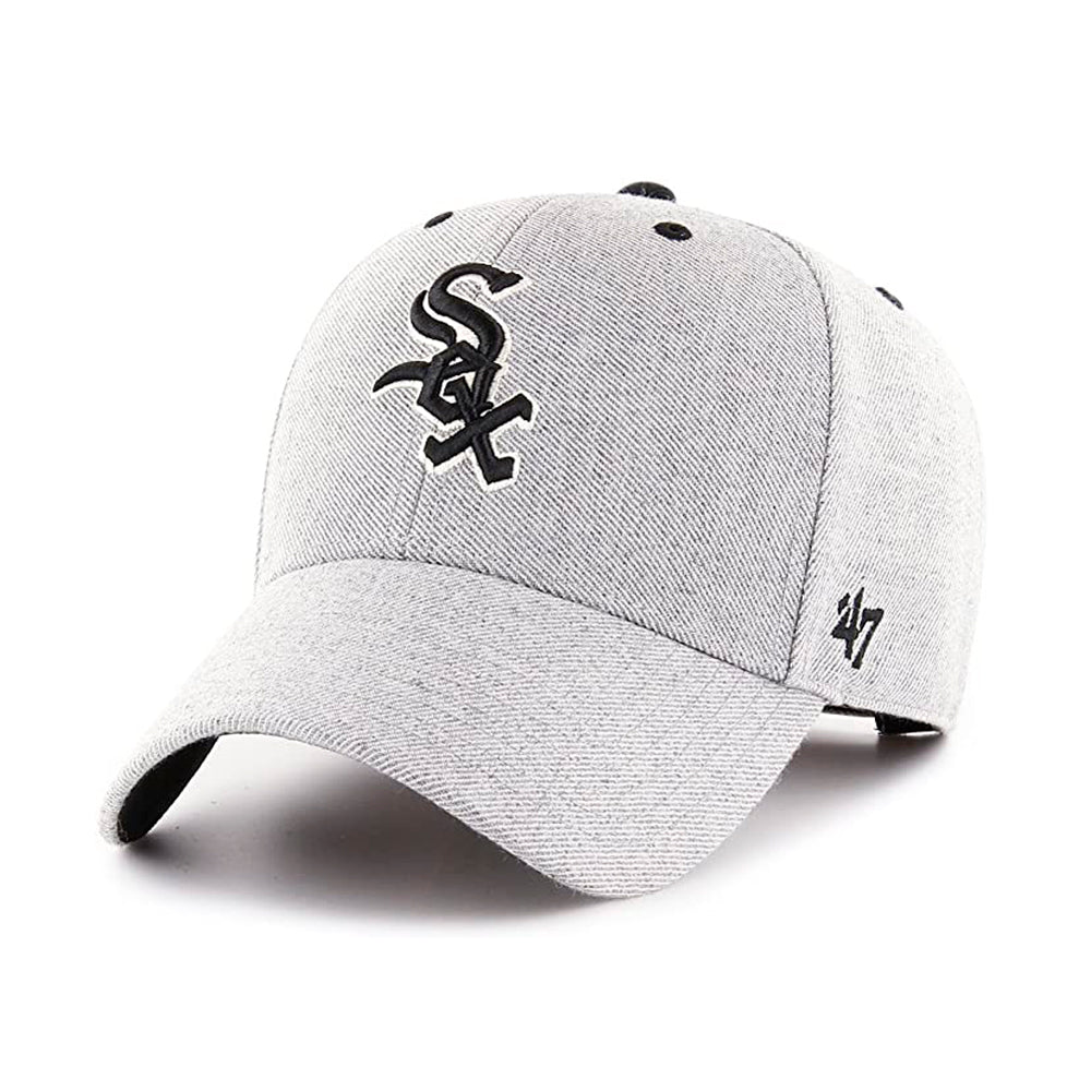 47 Brand MLB Chicago White Sox MVP Storm Cloud Adjustable Velcro Charcoal Black Grå Sort