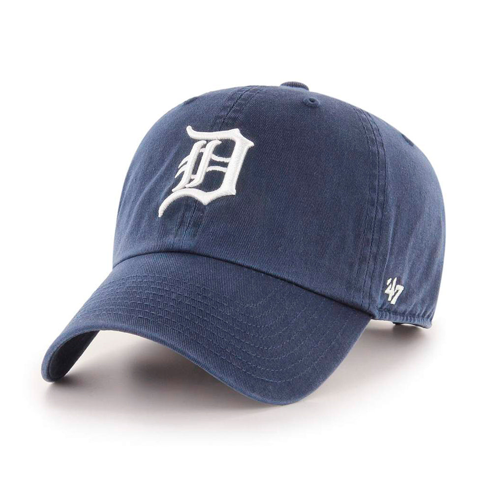 47 Brand Detroit Tigers Clean Up Home Adjustable Justerbar Navy White Blå Hvid B-RGW09GWS-HM