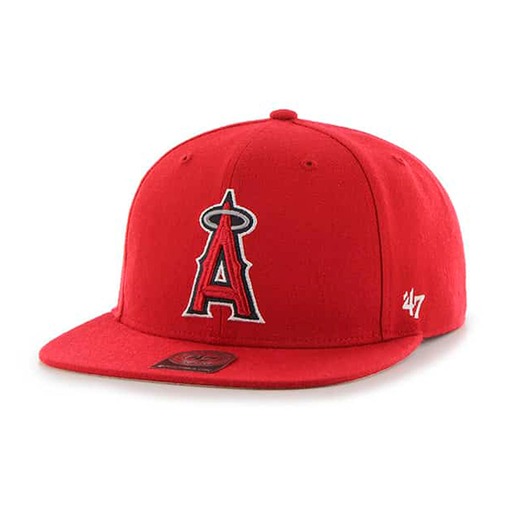 47 Brand Los Angeles LA Angels of Anaheim No Shot Snapback Red Rød B-NSHOT04WBP-RD