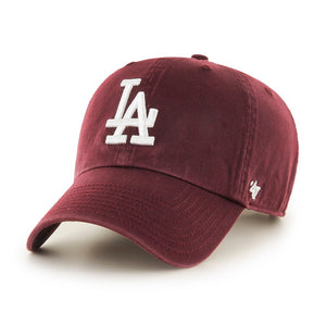 47 Brand LA Dodgers Clean Up Maroon Justerbar Rød