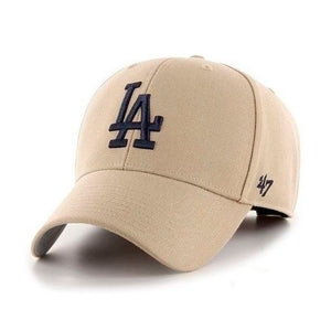 47 Brand MLB Los Angeles LA Dodgers MVP Adjustable Velcro Justerbar Khaki Black Beige Sort B-MVP12WBV-KHB