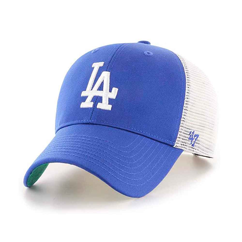 47 Brand LA Los Angeles Dodgers MVP Branson Trucker Snapback Royal Blue White Blå Hvid