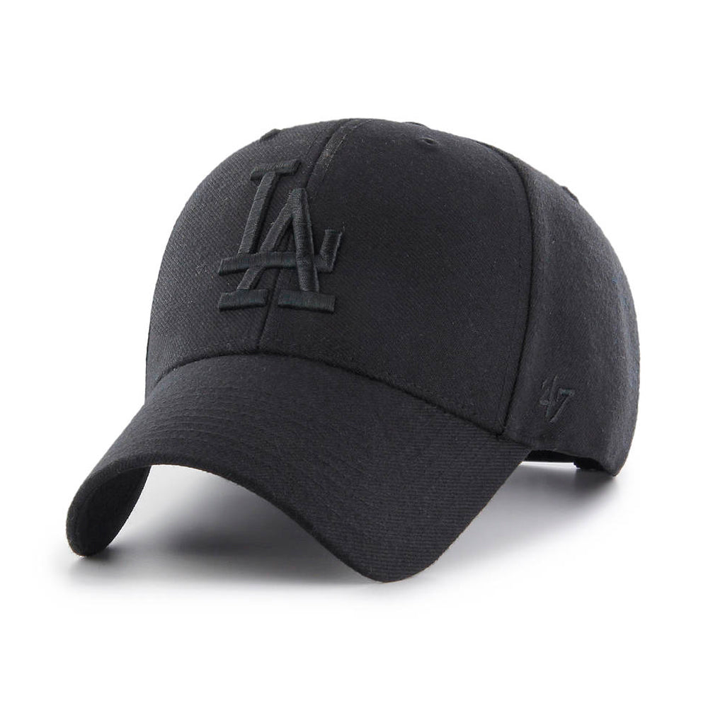 47 Brand Los Angeles LA Dodgers MVP Snapback Black on Black Sort Sort B-MVPSP12WBP-BKE