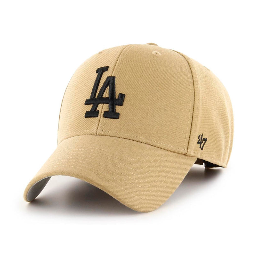 47 Brand LA Dodgers MVP Snapback Old Gold Black Beige Guld Sort